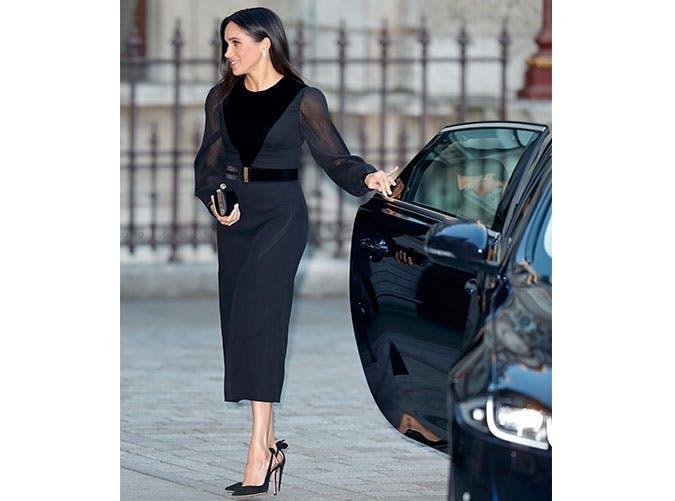 mm givenchy black dress