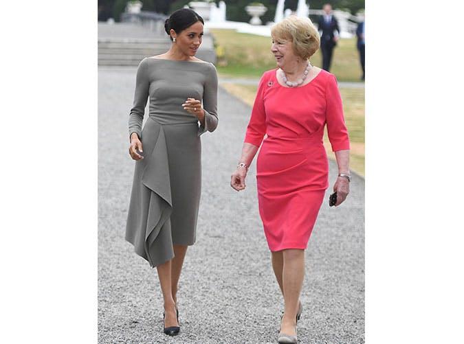 mm roland mouret gray dress