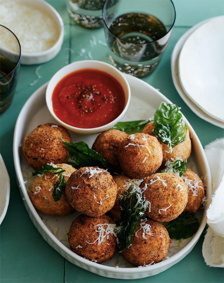 mozzarella stuffed chicken parmesan meatballs recipe