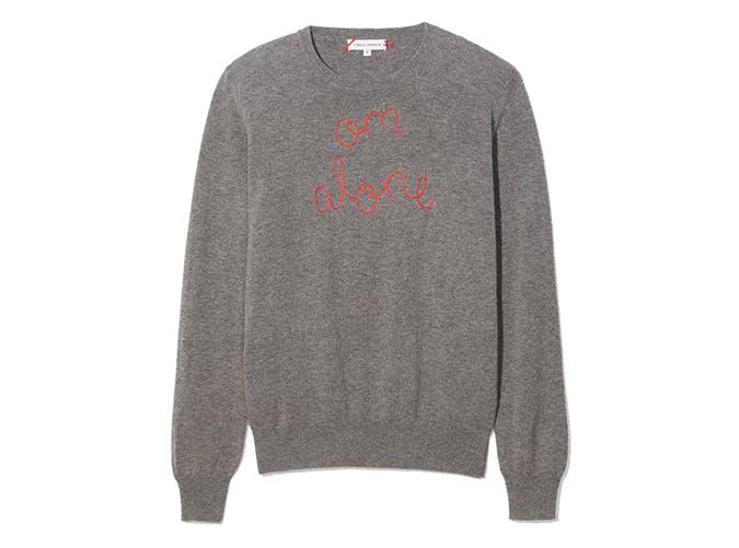 om alone sweater