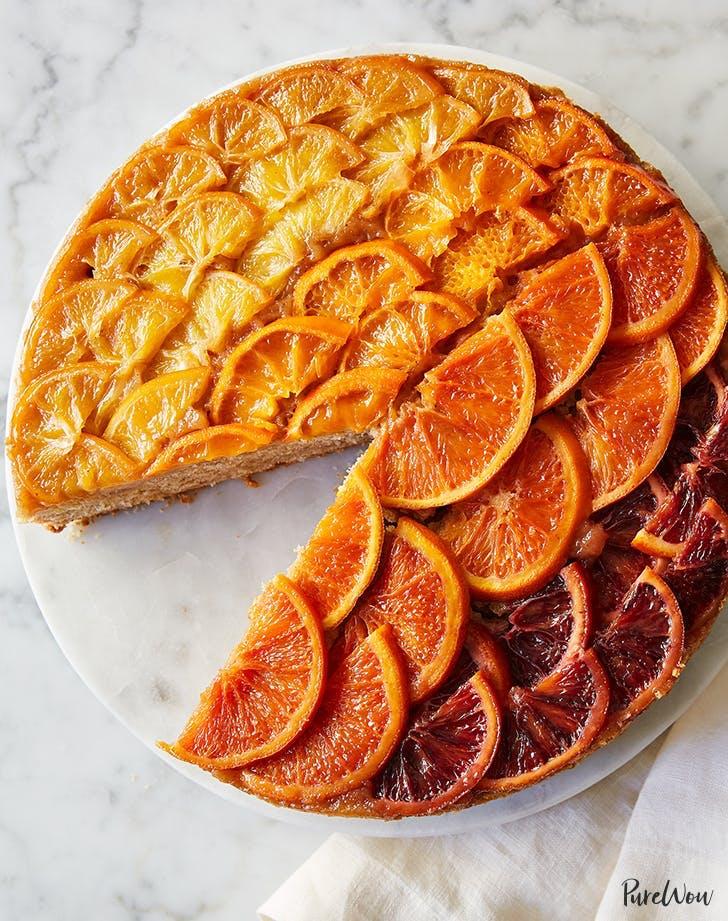 ombre citrus upside down cake recipe
