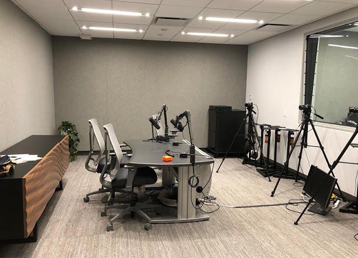 podcast studio makeoverbefore