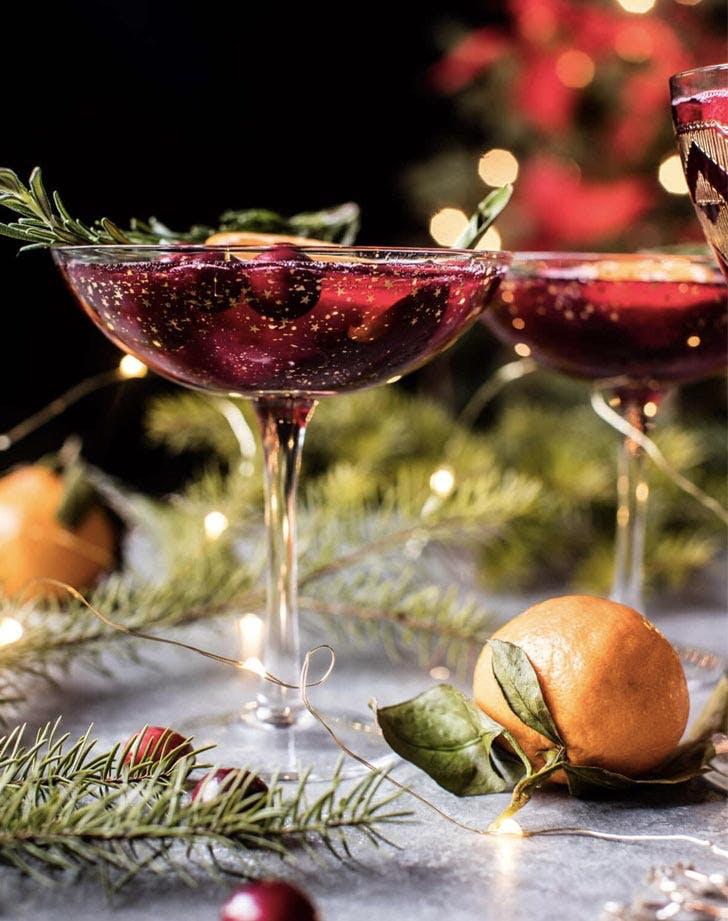 pomegranite spritz chamagne cocktail