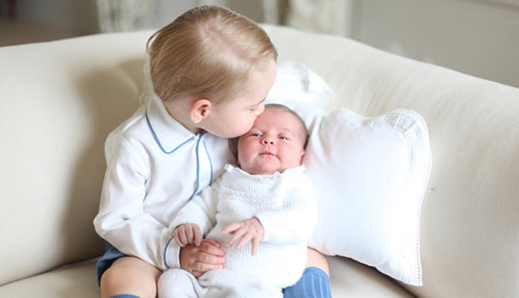 prince george kissing princess charlotte