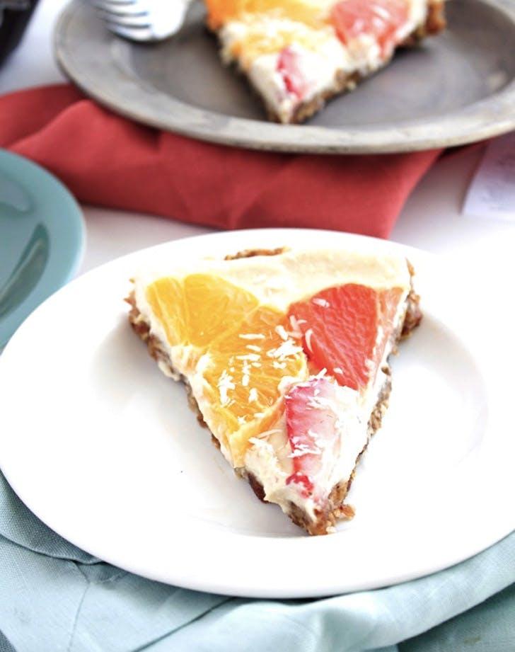 raw vegan citrus pie