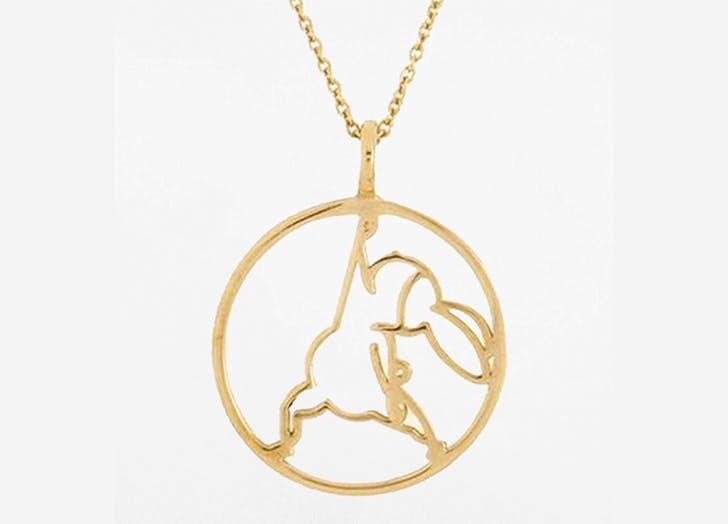 rebecca joseph yoga bunny necklace