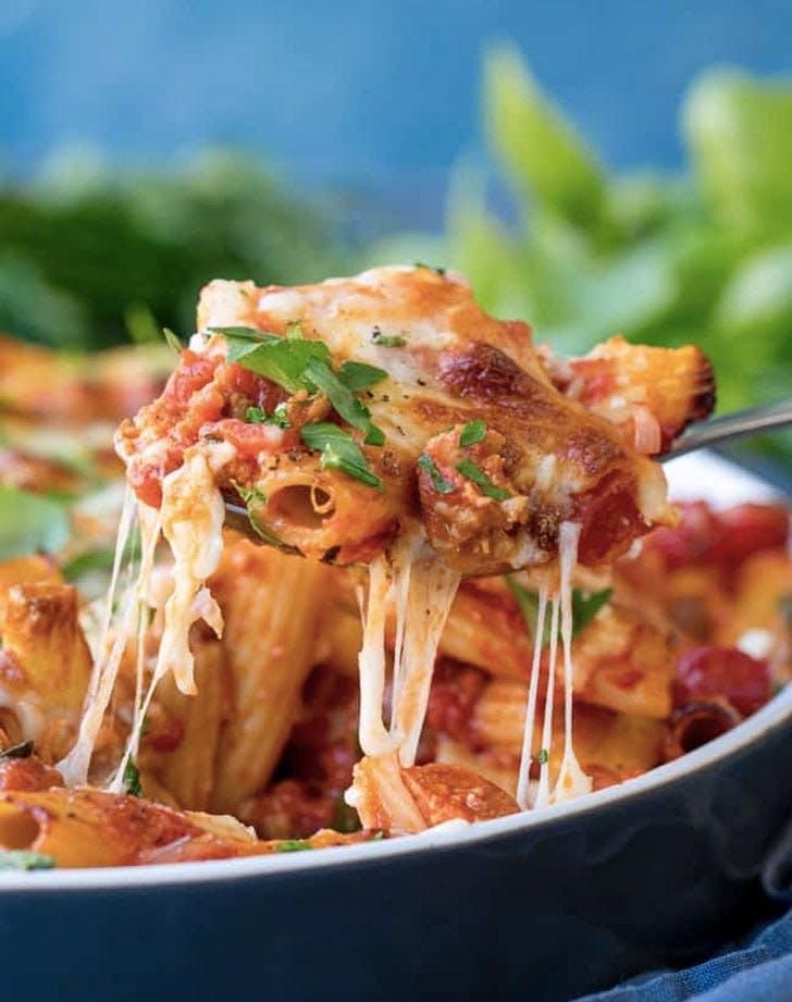 sausage pasta bake chorizo brie