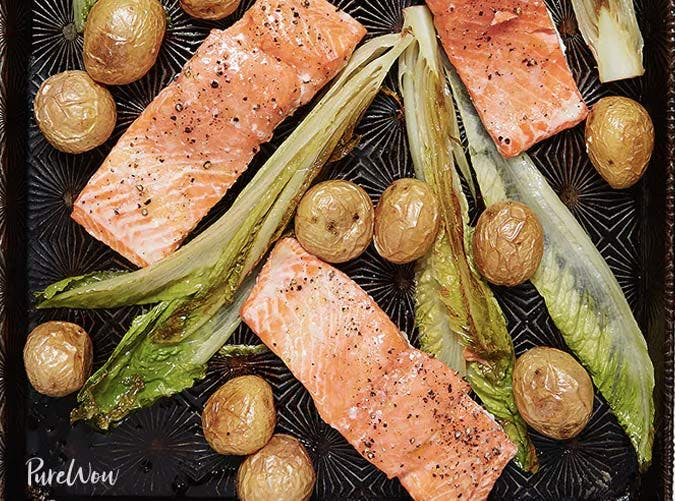 sheet pan salmon potatoes