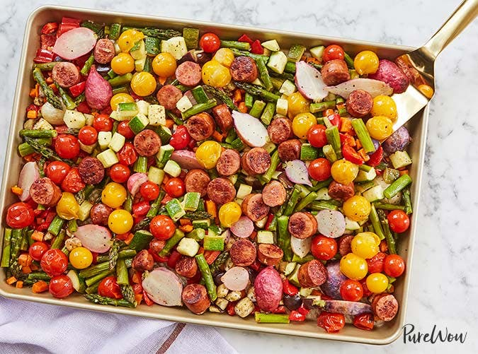 sheet pan veggies and sausage