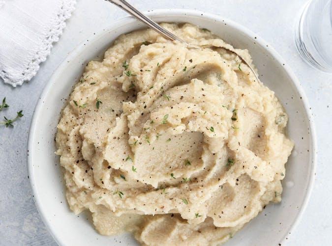 slow cooker mashed cauliflower vegan