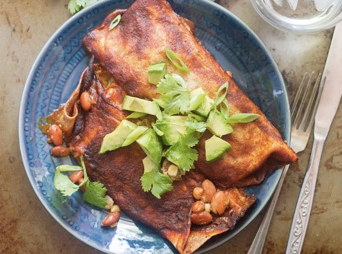 slow cooker vegan enchiladas