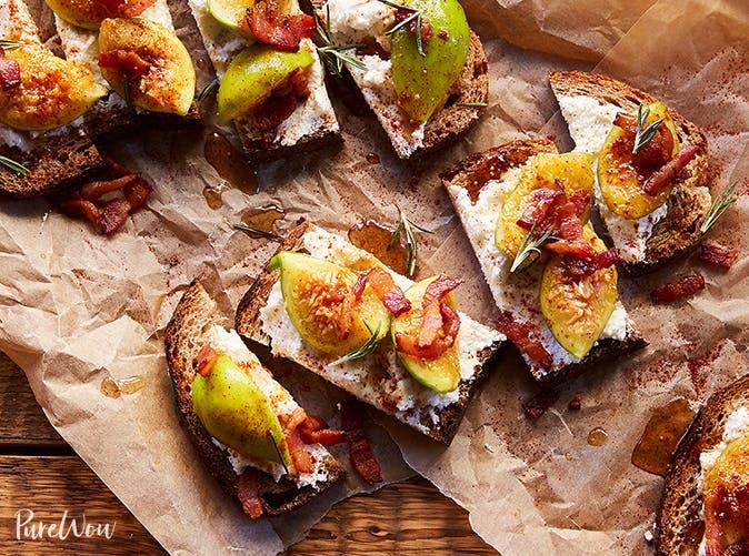 spicy fig tartines recipe