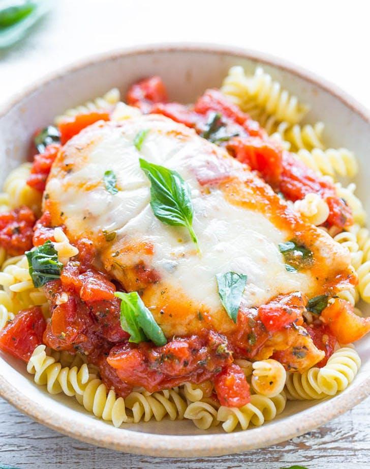 tomato basil mozzarella chicken recipe