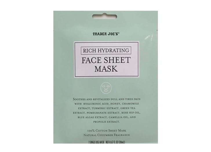 trader joes rich hydrating sheet mask