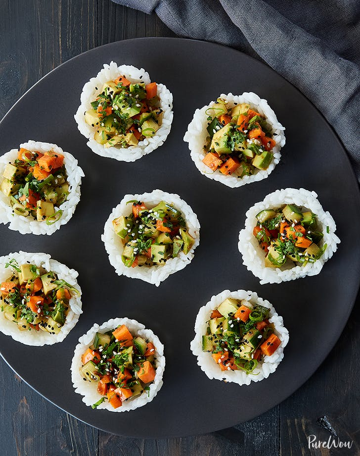vegetarian sushi cups recipe