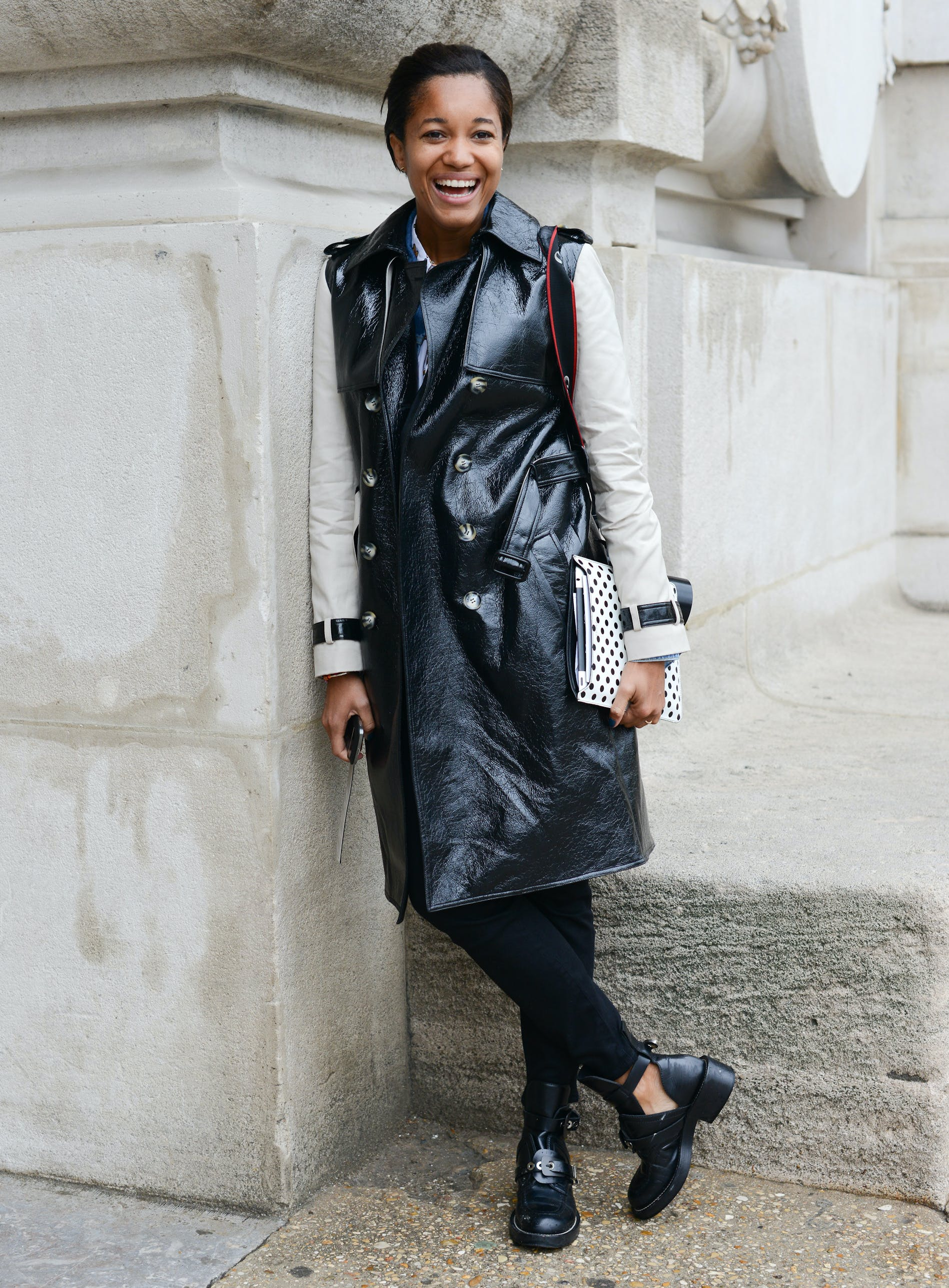 wear a vest over a coat january winter outfit ideas