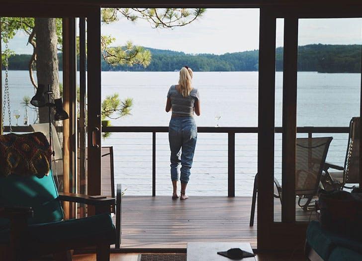woman summer home