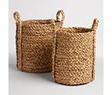woven hyacinth baskets