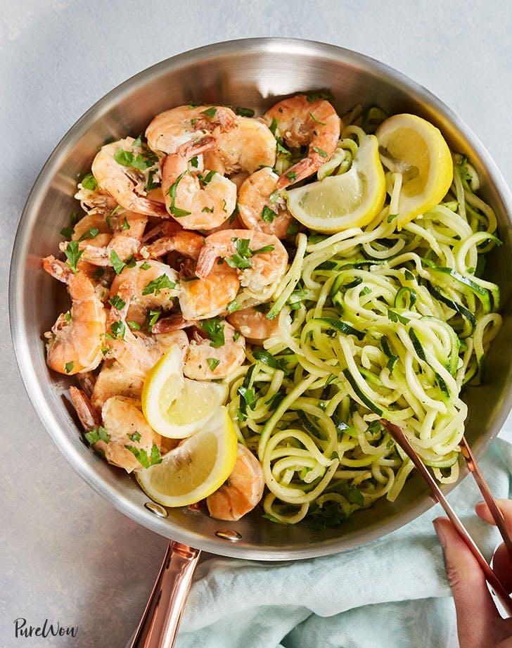 20 minute shrimp scampi zoodles recipe 921
