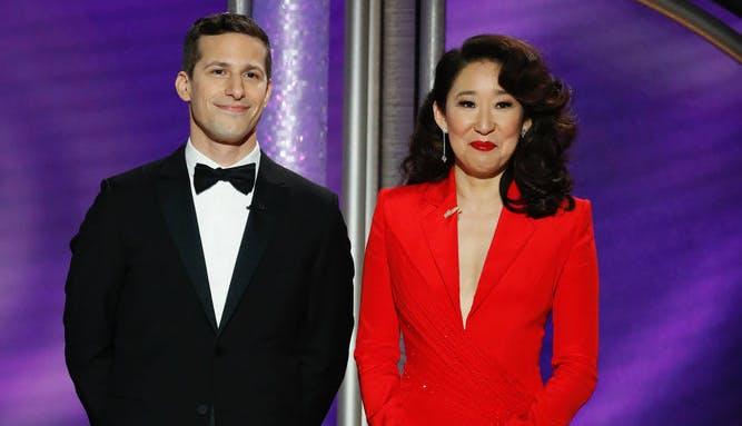 Andy Samberg and Sandra Oh hosting Golden Globes