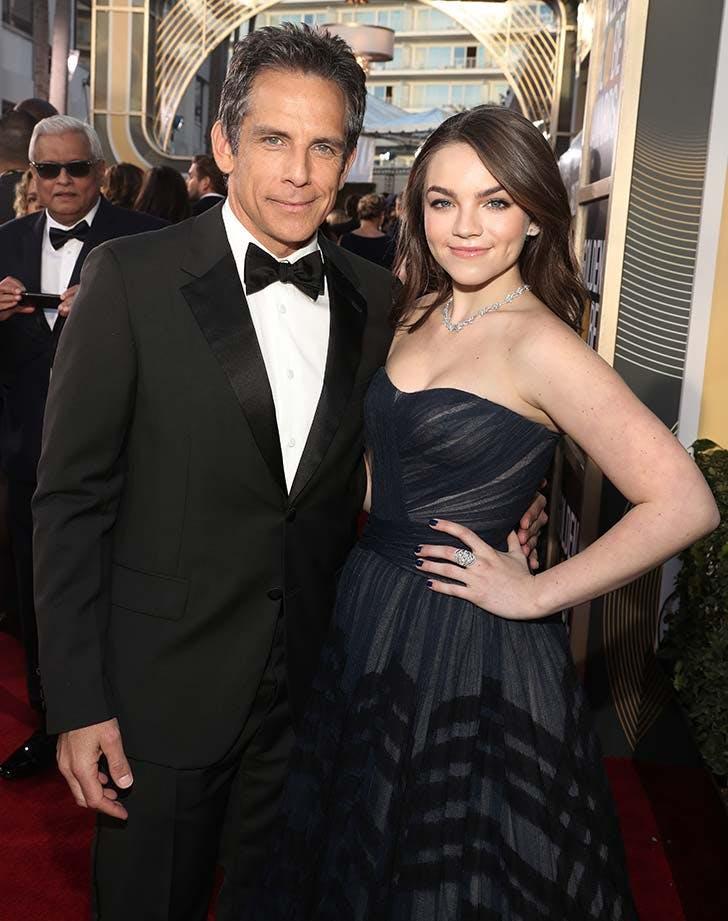 Ben Stiller and daughter at Golden Globes