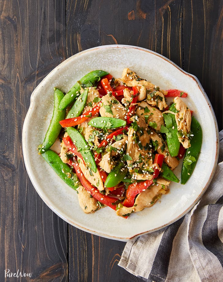 Chicken and Snap Pea Stir-Fry