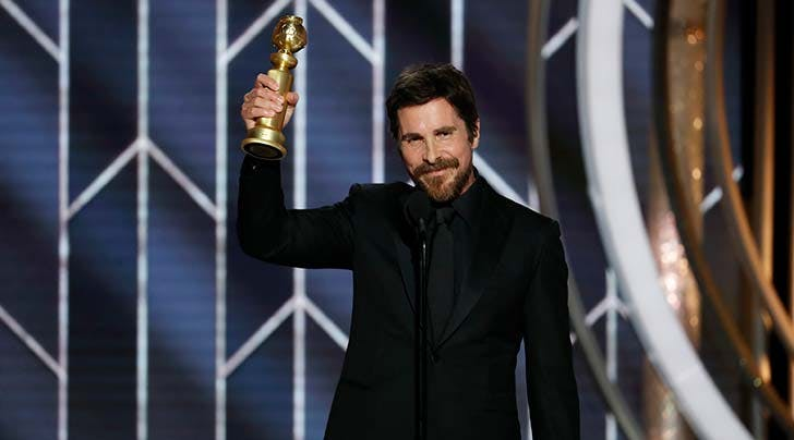 Christian Bale Gives Golden Globes Shout-Out to His Kids, Banana and Burrito, and We Have So Many Questions