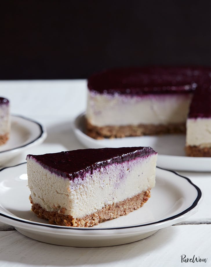 Dairy-Free Cheesecake with Blueberry Topping