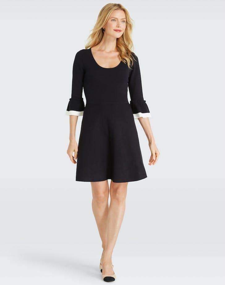 Draper James Flutter Sleeve Sweater Dress