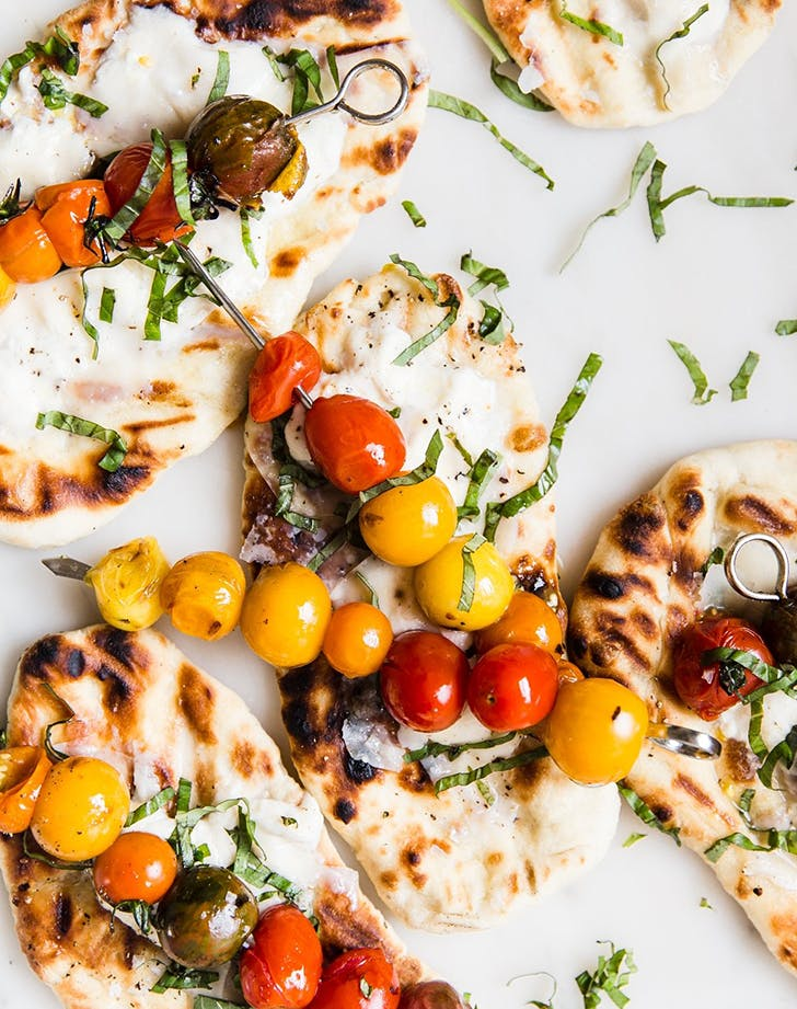 Grilled Flatbread with Burrata Cheese
