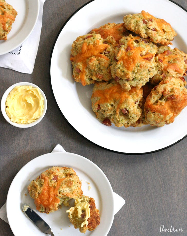 Ham, Cheddar and Chive Scones