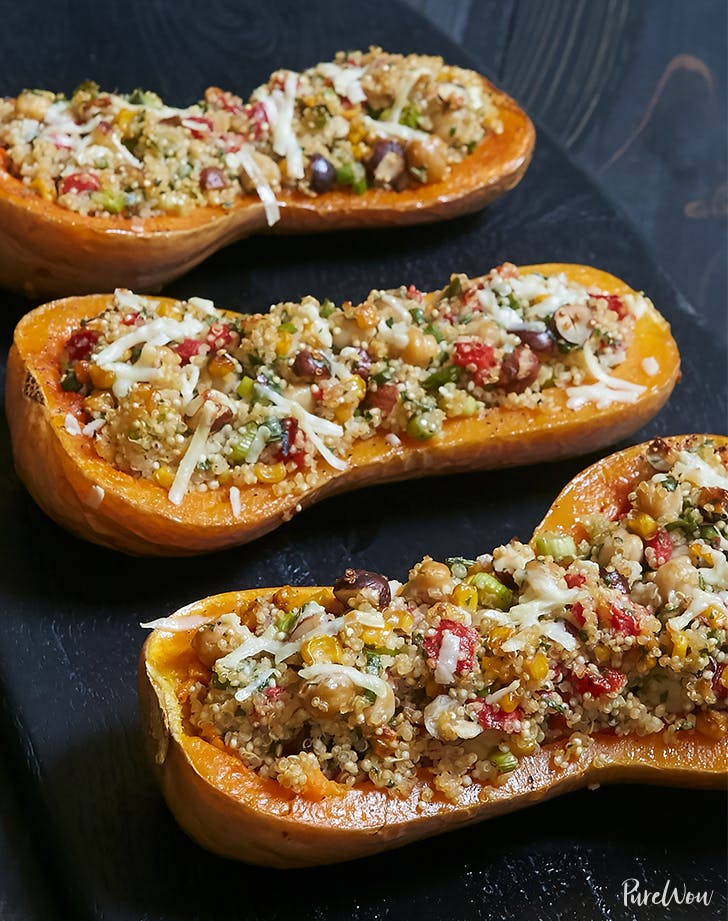Hearty Stuffed Butternut Squash