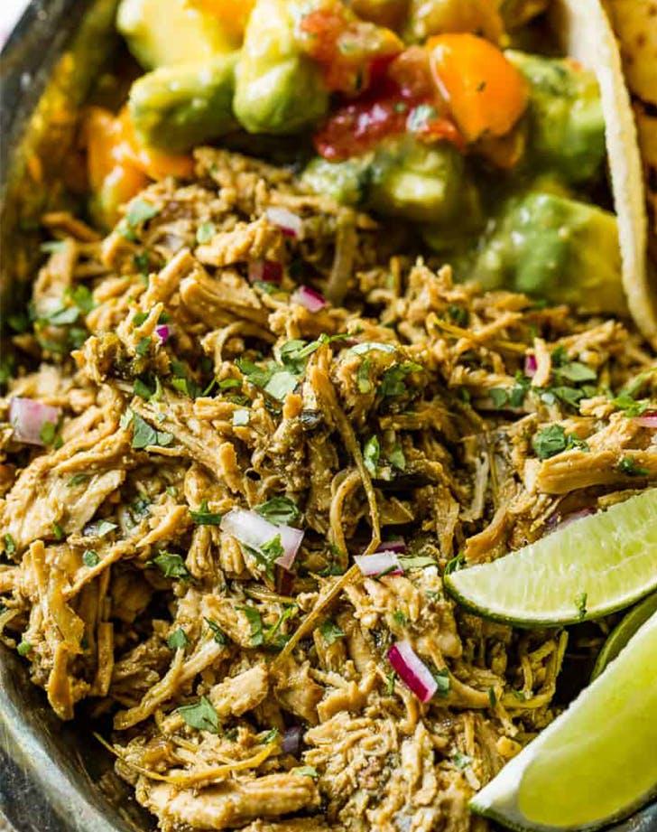 Instant Pot Mexican Poblano Chicken