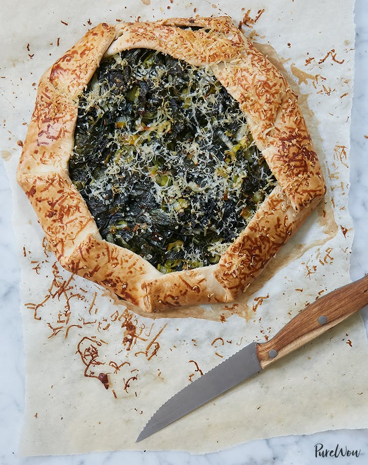 Kale and Cheddar Cheese Galette