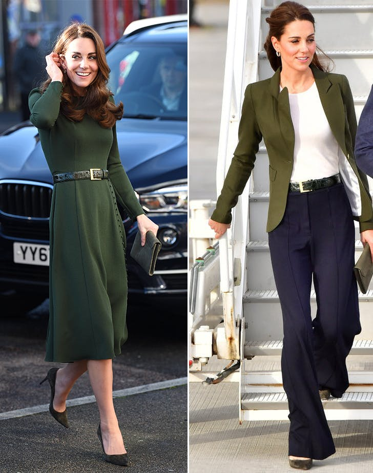Kate Middleton in matching accessories