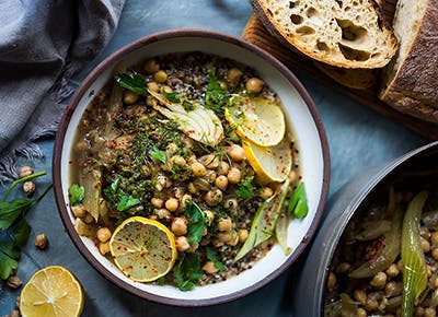 Lemony chickpea and fennel stew recipe 290