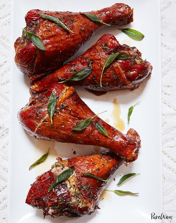 Maple-Herb Roasted Turkey Legs