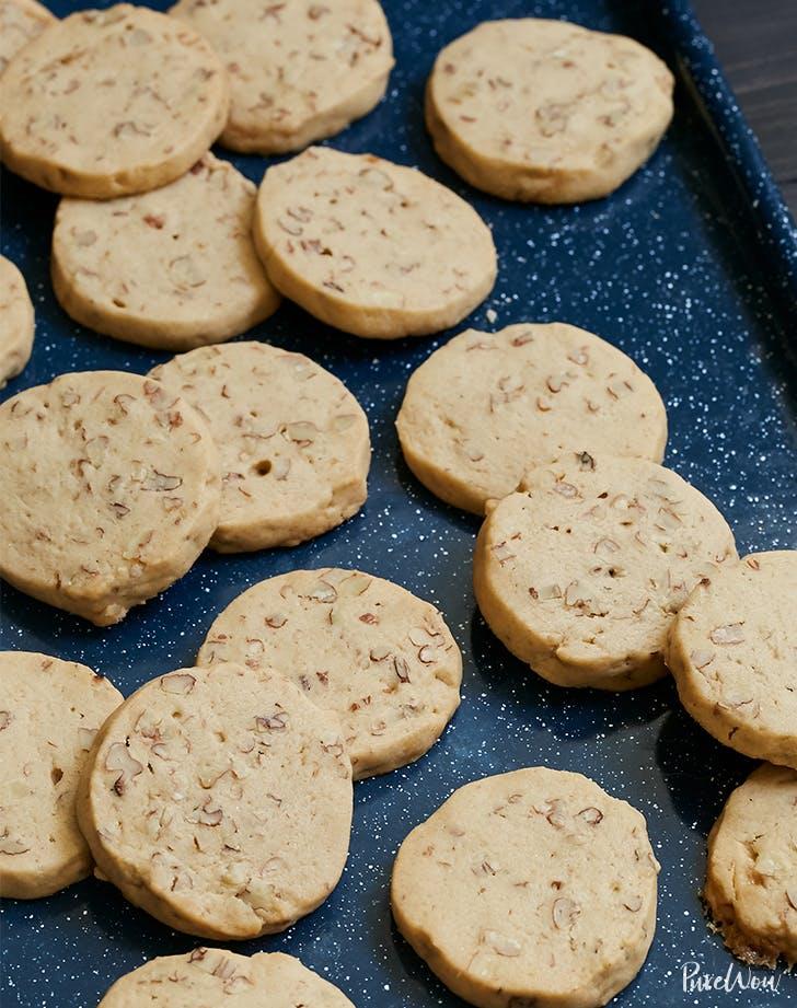Maple Pecan Icebox Cookies
