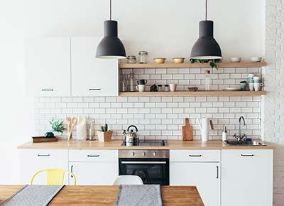 Minimalist modern white kitchen 400