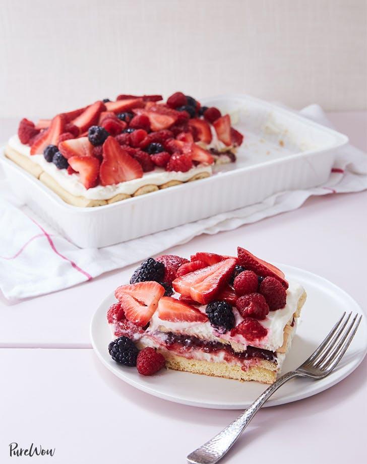 No-Bake Berry Tiramisu