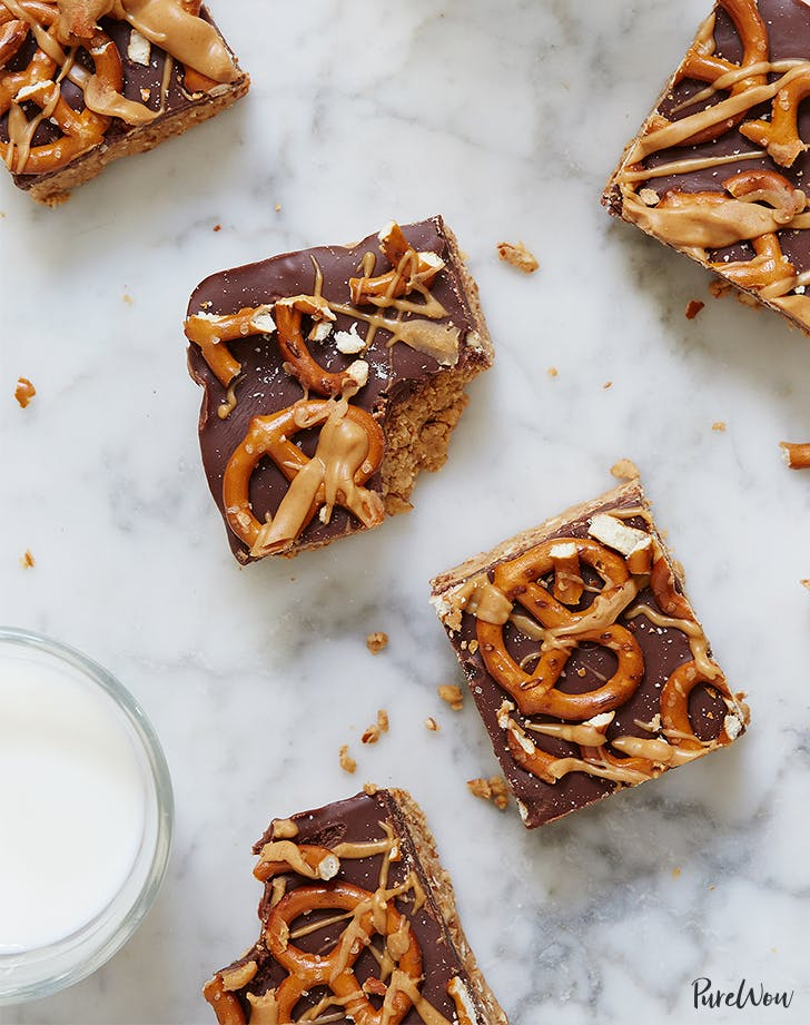 No-Bake Chocolate Peanut-Butter Pretzel Bars