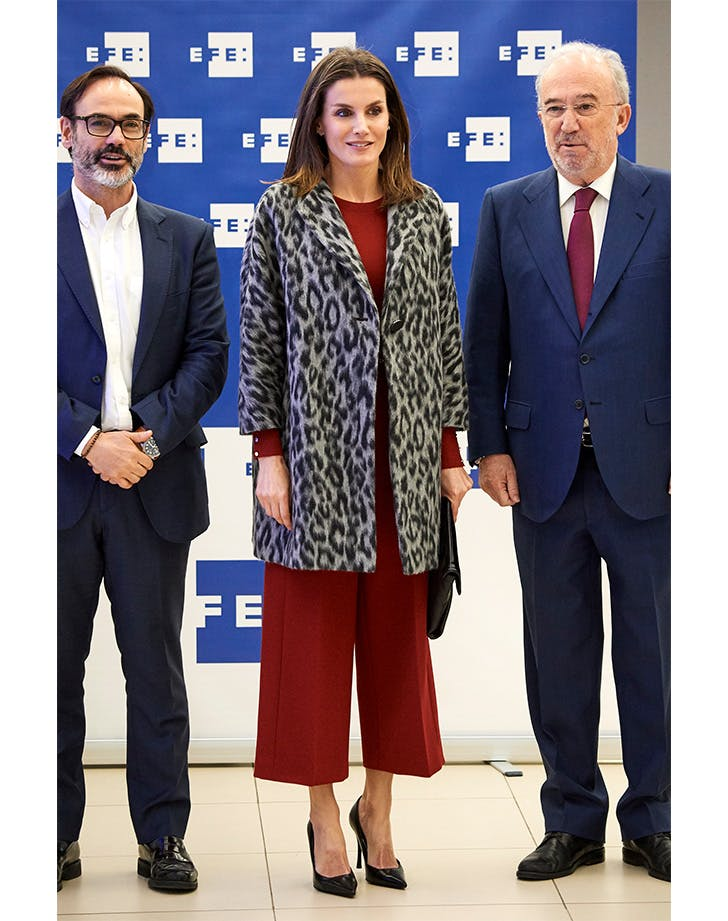 Queen Letizia in full Hugo Boss outfit