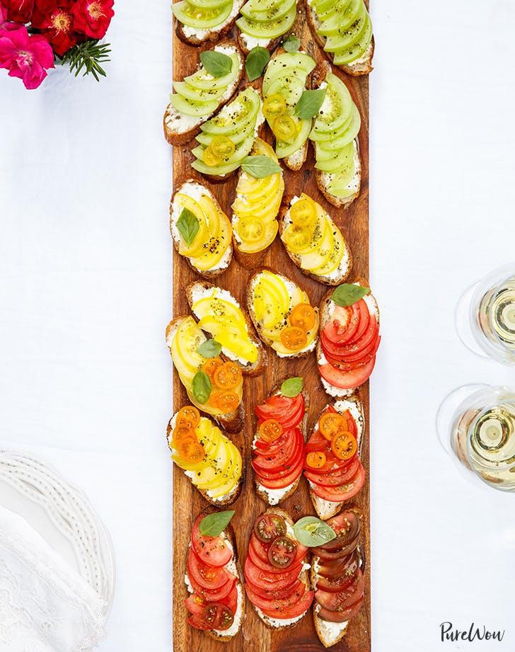 Rainbow Heirloom Tomato Bruschetta