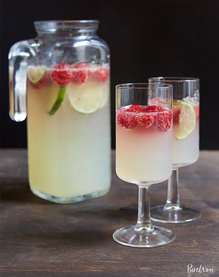 Raspberry-Lime Champagne Punch