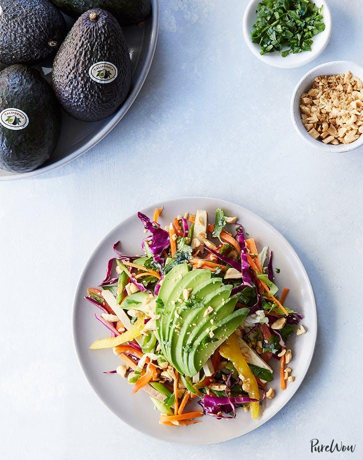 Shredded Thai Salad with Avocado