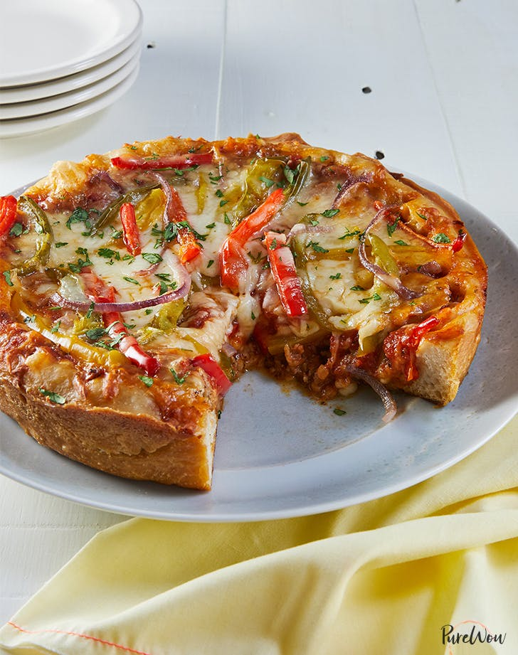Slow-Cooker Deep-Dish Pizza