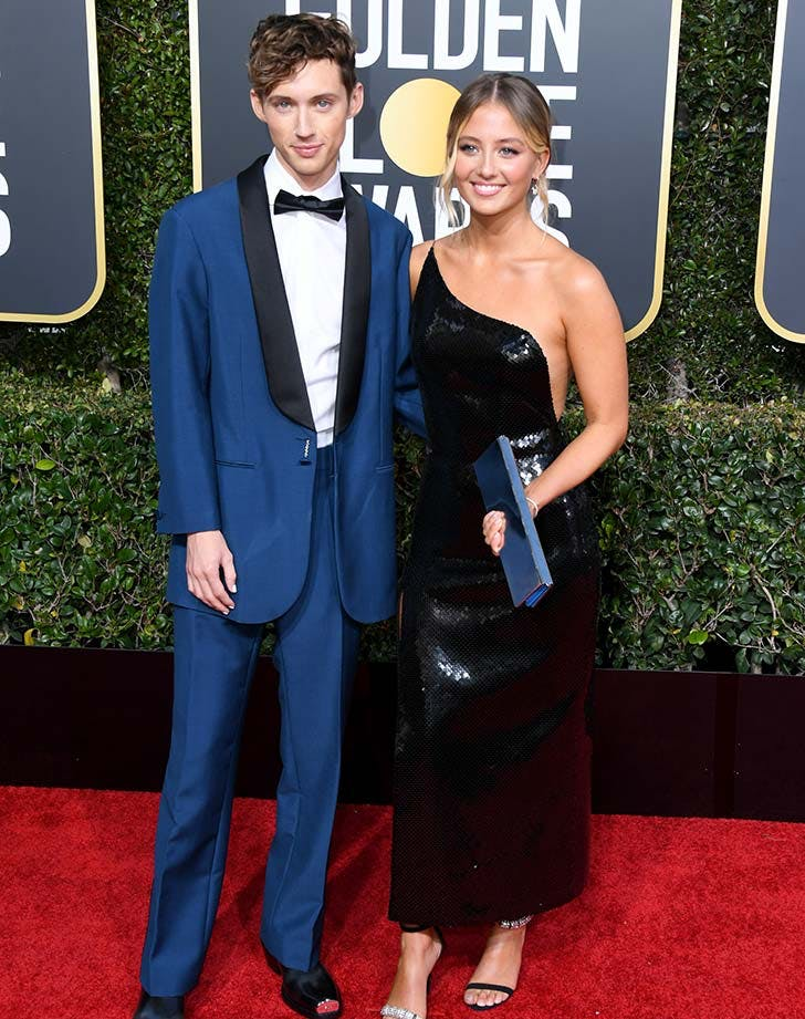Troye Sivan and his sister at the Golden Globes