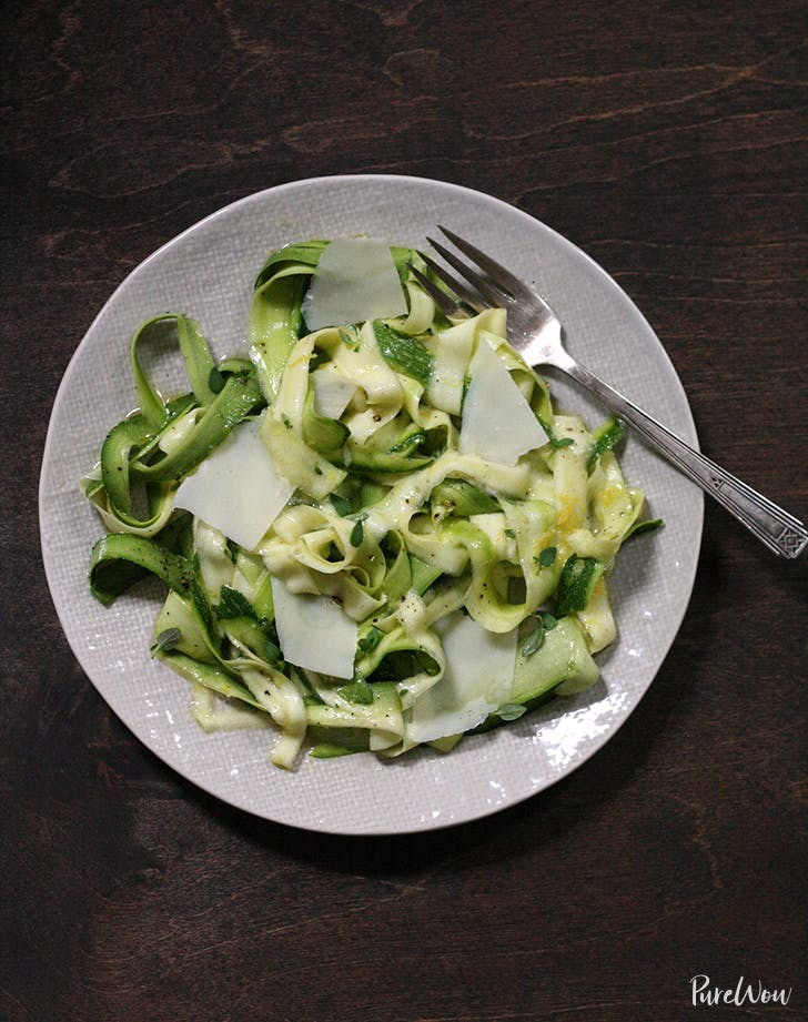 Zucchini Salad with Lemon and Parmesan