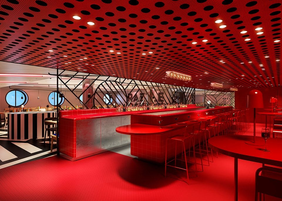 a bar onboard the virgin voyages scarlet lady cruise ship
