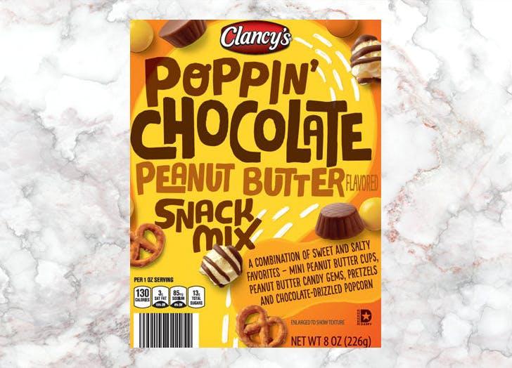 aldi clancys poppin chocolate peanut butter snack mix